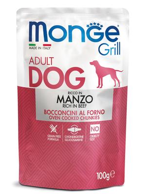 Monge Dog Grill Pouch для собак говядина 100 г (фото, вид 2)