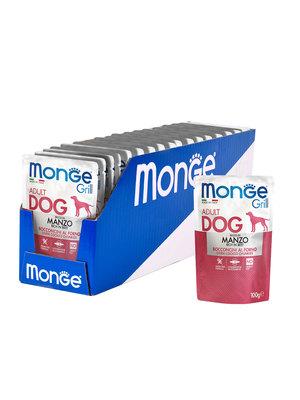 Monge Dog Grill Pouch для собак говядина 100 г (фото, вид 3)