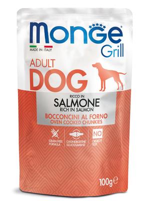 Monge Dog Grill Pouch для собак с лососем 100 г (фото, вид 1)