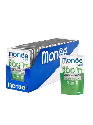 Monge Dog Grill Pouch для собак ягненок с овощами 100 г (фото, вид 2)