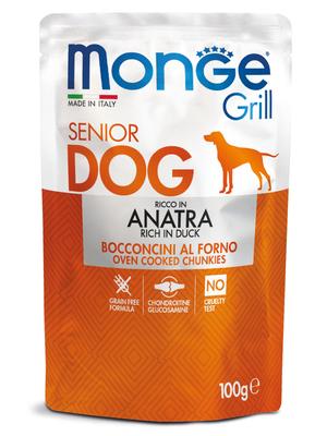 Monge Dog Grill SENIOR Pouch паучи для пожилых собак утка 100г (фото, вид 1)
