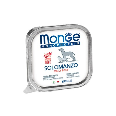 Monge Dog Monoproteino Solo паштет из говядины 150 г (фото, вид 1)