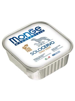 Monge Dog Monoproteino Solo паштет из оленины 150 г (фото, вид 2)