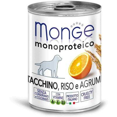 Monge Dog Monoproteino Fruits паштет из индейки с цитрусовыми 400 г (фото, вид 1)