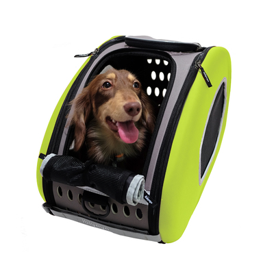Ibiyaya многофункциональная сумка-тележка, лайм (Ибияйя) EVA Pet Carrier/ Pet Wheeled Carrier – Green (фото, вид 1)