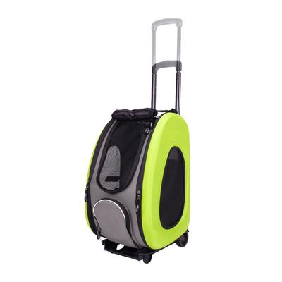 Ibiyaya многофункциональная сумка-тележка, лайм (Ибияйя) EVA Pet Carrier/ Pet Wheeled Carrier – Green (фото, вид 2)