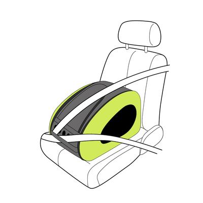 Ibiyaya многофункциональная сумка-тележка, лайм (Ибияйя) EVA Pet Carrier/ Pet Wheeled Carrier – Green (фото, вид 4)