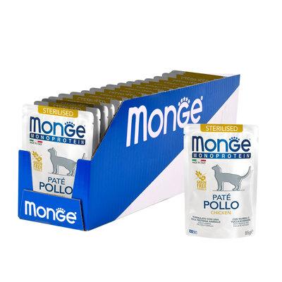 Monge Cat Monoprotein паучи для стерилизованных кошек из курицы 85 г (фото, вид 1)
