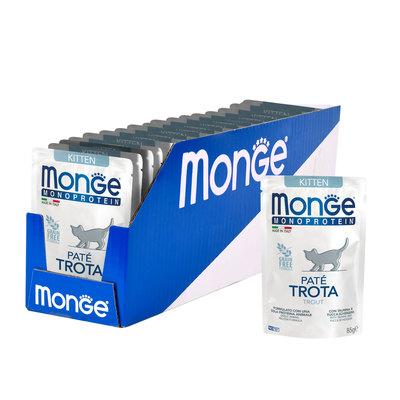 Monge Cat Monoprotein паучи для котят и беременных кошек из форели 85 г (фото, вид 1)