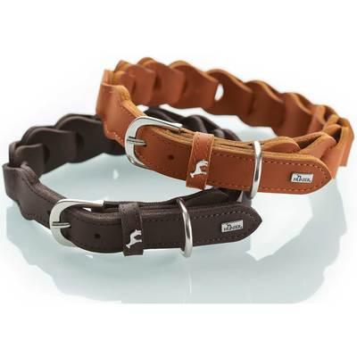 Ошейн Hunter Solid Education натуральная кожа, коричневый, размер 50, шея 34-42 см (фото, вид 8)