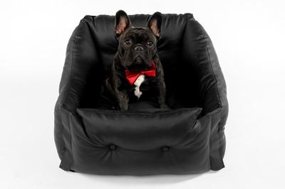 DogsCars Автокресло для перевозки собак в автомобиле, цвет черный, размер 50х50 см (фото, вид 1)