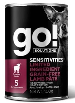 GO! NATURAL Holistic консервы беззерновые с ягненком для собак с чувствительным пищеварением, GO! Sensitivities Limited Ingredient Grain Free Lamb Pate DF