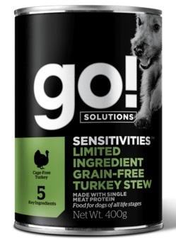 GO! NATURAL Holistic консервы беззерновые с индейкой для собак, GO! Grain Free Turkey Stew DF