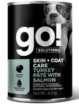 GO! NATURAL Holistic консервы с индейкой и лососем для собак всех возрастов, GO! Skin + Coat Turkey Pate with Salmon DF