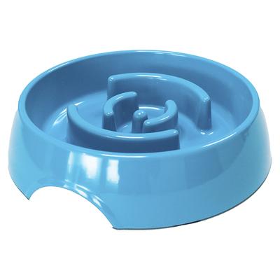 SuperDesign миска меламиновая для медленного питания, 550 мл, синяя (фото)
