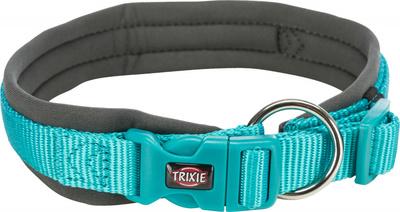 Trixie ошейник широкий с неопреновой подкладкой Premium, цвет океан/графит