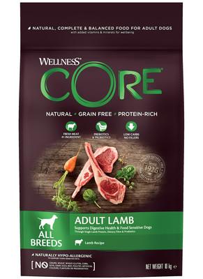 Welness Core сухой корм из ягненка с яблоком для взрослых собак всех пород (фото)