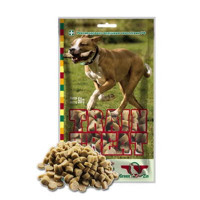 Green Cuisine ДРЕССУРА №2 индейка+треска лакомство для собак (Грин Кьюзин), 50 гр., арт. 030