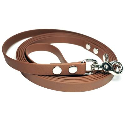 """R-Dog Поводок из биотана, стальной карабин """"клещи"""", цвет темно-коричневый"""