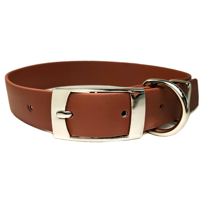 R-Dog Ошейник из биотана (Biothane USA), металлическая пряжка, цвет коричневый