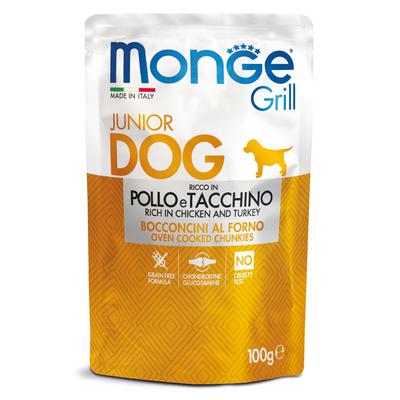 Monge Dog Grill PUPPY&JUNIOR Pouch паучи для щенков курица и индейка 100г (фото)