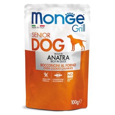 Monge Dog Grill SENIOR Pouch паучи для пожилых собак утка 100г (фото)