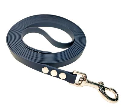 R-Dog Поводок из биотана, усиленный стальной карабин, цвет керосиновый (серо-синий)