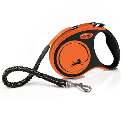 Flexi рулетка с амортизатором Xtreme, 5 м для собак до 20 кг, цвет оранжевый (фото)