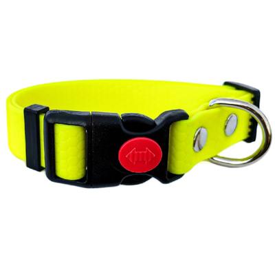 R-Dog Ошейник из мягкого биотана Гекса, пластиковая застежка с фиксатором, цвет желтый неон