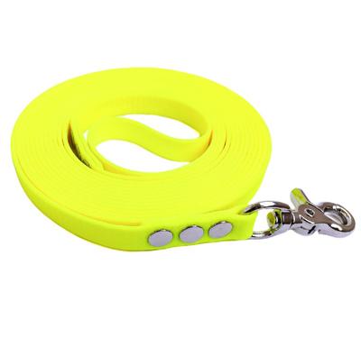 """R-Dog Поводок из мягкого биотана Гекса, стальной карабин """"клещи"""", цвет желтый неон (фото)"""