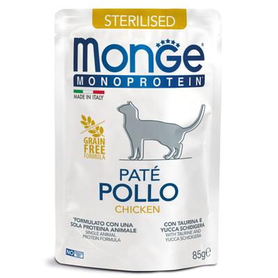 Monge Cat Monoprotein паучи для стерилизованных кошек из курицы 85 г (фото)