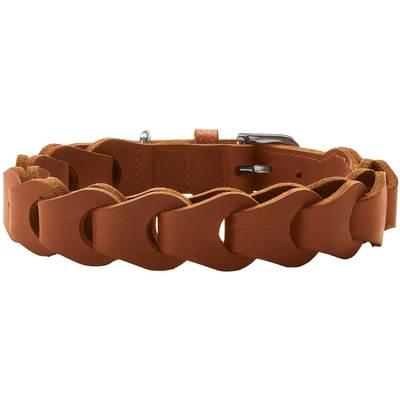 Ошейн Hunter Solid Education натуральная кожа, коричневый, размер 50, шея 34-42 см (фото)