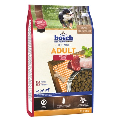 Bosch Adult Lamb & Rice, сухой корм для собак ягненок и рис
