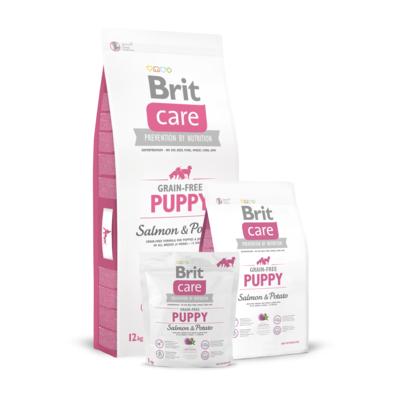Brit Care Grain-free Puppy Salmon & Potato беззерновой корм для щенков лосось с картофелем