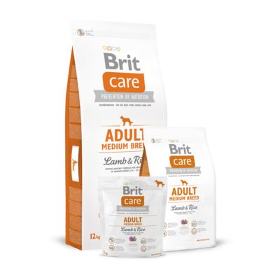 Brit Care Adult Medium Breed Lamb&Rice, сухой корм для собак средних пород ягненок и рис