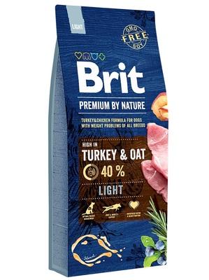 Brit Premium by Nature Light Turkey & Oats корм для собак склонных к полноте, малоподвижных или с избыточной массой тела