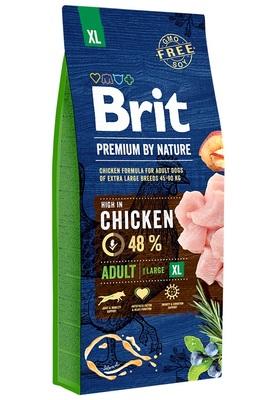 Brit Premium by Nature Adult XL полнорационный корм для взрослых собак гигантских пород (45–90 кг). Упаковка 15кг