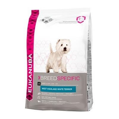 Eukanuba West Highland White Terrier для взрослых собак породы вест хайленд уайт терьер