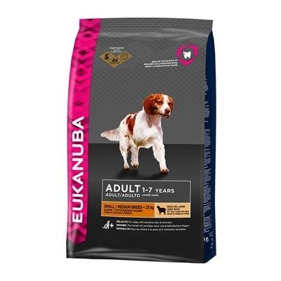Eukanuba Adult Small & Medium Lamb & Rice для взрослых собак мелких и средних пород с ягненком и рисом