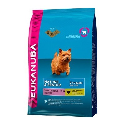 Eukanuba Dog Mature & Senior для зрелых и пожилых собак мелких пород, 1 кг