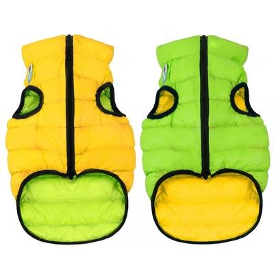 AiryVest куртка двухсторонняя для собак (Collar), цвет салатово-желтый (фото)