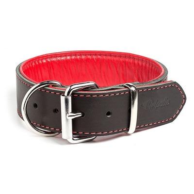 """Gripalle ошейник для собак """"Остин"""", натуральная кожа, 2 слоя, цвет черный (фото)"""