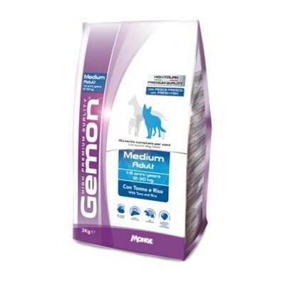 Gemon Dog Medium корм для взрослых собак средних пород тунец с рисом