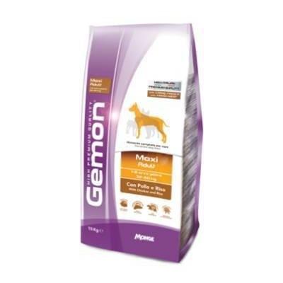 Gemon Dog Maxi корм для взрослых собак крупных пород курица с рисом, 15 кг.
