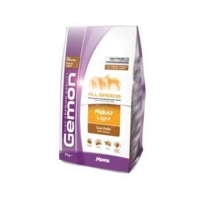 Gemon Dog Light Низкокаллорийный корм для взрослых собак всех пород, 3 кг.