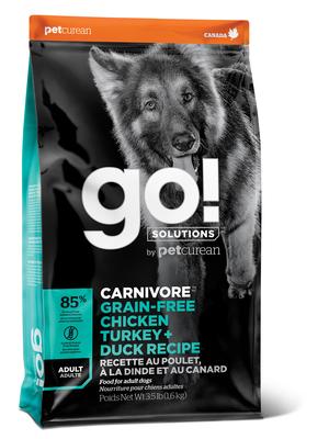 GO! Natural holistic беззерновой для взрослых Собак всех пород 4 вида мяса: Индейка, Курица, Лосось, Утка, GO! CARNIVORE GF