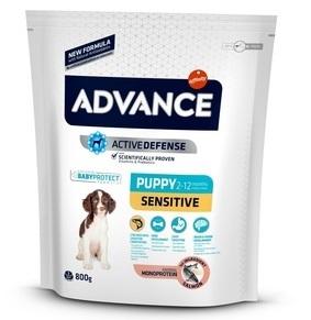 Advance Baby Puppy Sensitive сухой корм для щенков с чувствительным пищеварением: лосось и рис