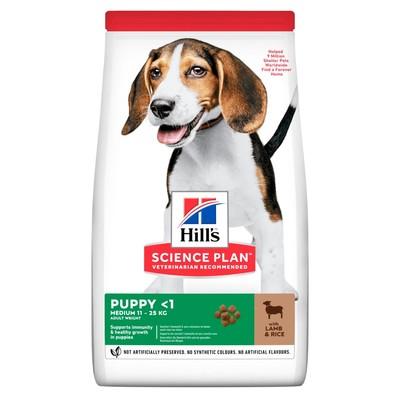 Hill's™ Science Plan™ сухой корм для щенков средних пород Healthy Development™ Ягненок с Рисом