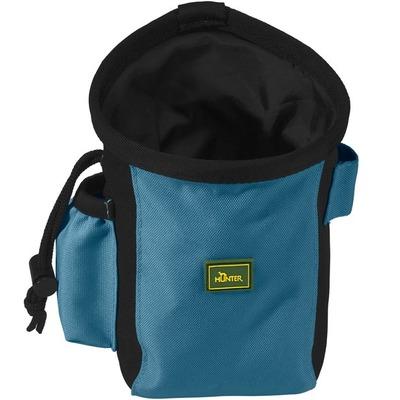 Hunter Сумочка для лакомства Bugrino Standard, большая с карманом, синяя (фото)