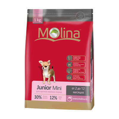 Molina корм для щенков мелких пород «Junior Mini»